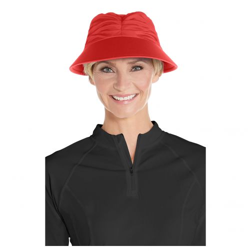 Coolibar---UV-sun-visor-for-women---Poppy-red