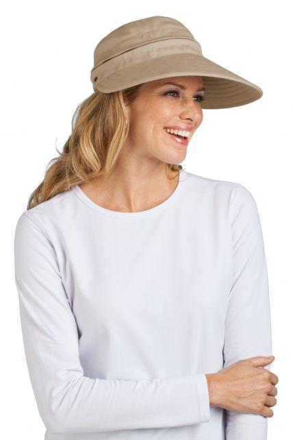 Coolibar---Zip-Off-Sun-UV-visor---Tan