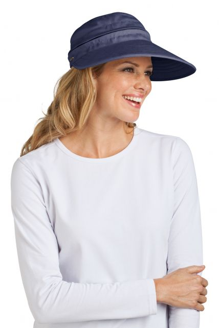 Coolibar---Zip-Off-Sun-UV-visor---Navy
