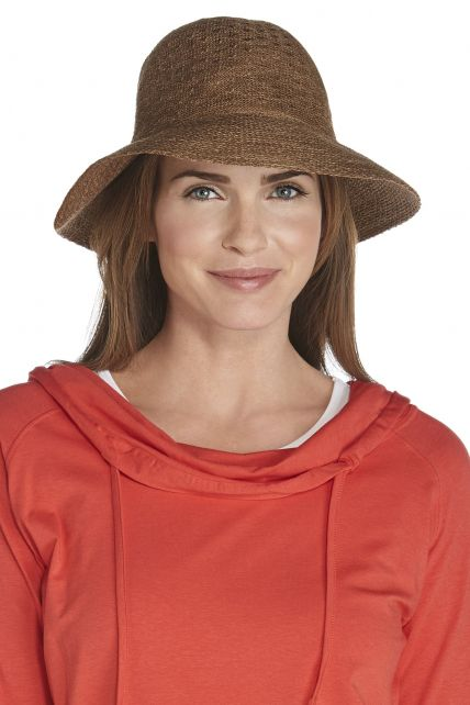 Coolibar - Marina Sun Hat- taupe - Front