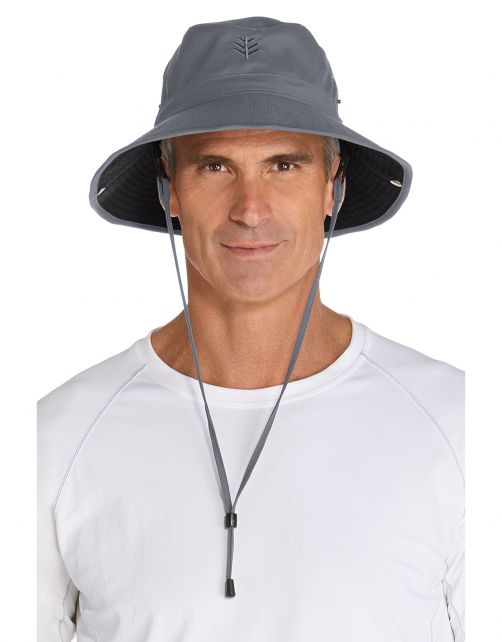 Coolibar---Featherweight-UV-Bucket-Hat-for-men---Chase---Carbon/Black