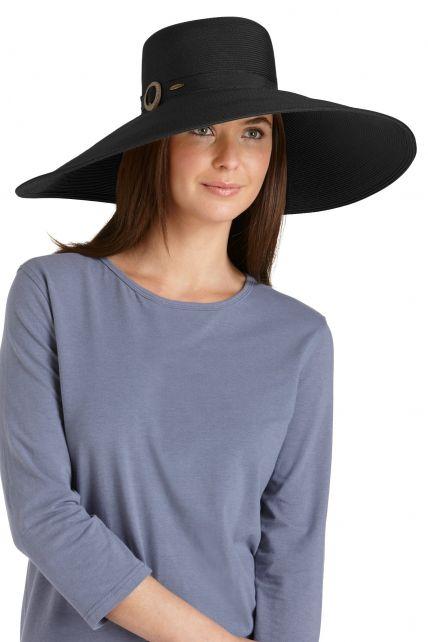 Coolibar---SmartStraw-Monaco-Sun-Hat--Black