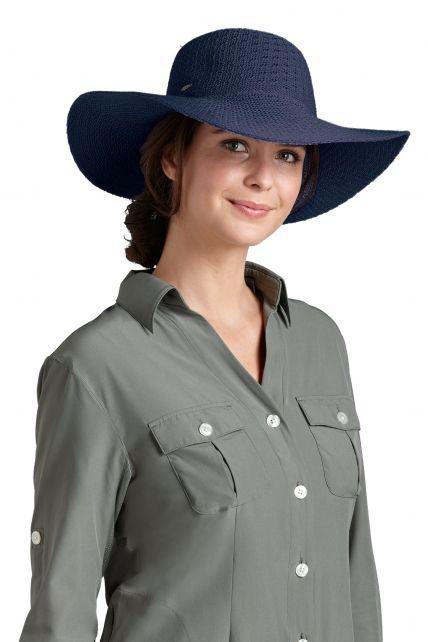 Coolibar---UPF-50+-Women's-Packable-Wide-Brim-Sun-Hat--Blue