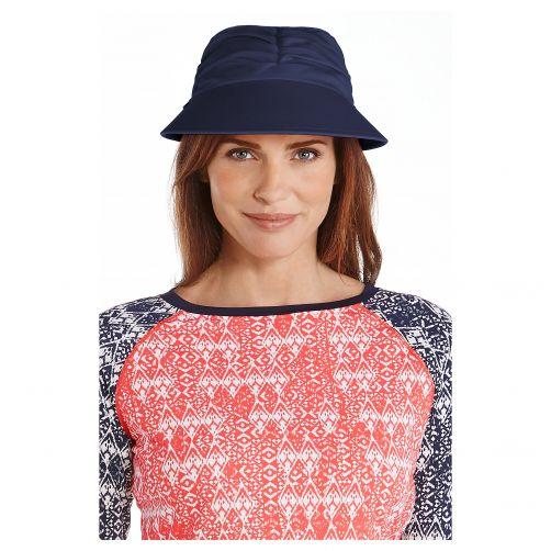 Coolibar---UV-sun-visor-for-women---Navy-blue