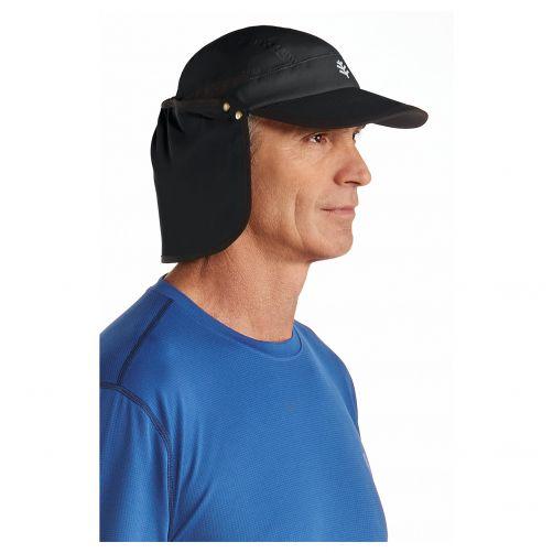 Coolibar---UV-sun-cap-unisex--Black