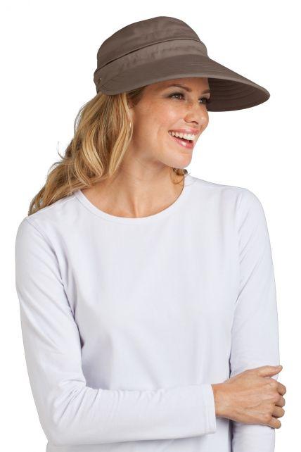 Coolibar---Zip-Off-Sun-UV-visor---Mushroom