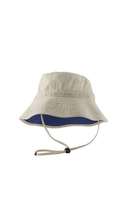 Coolibar---UV-Bucket-hat-with-chin-strap-for-toddlers---Taylor---Tan