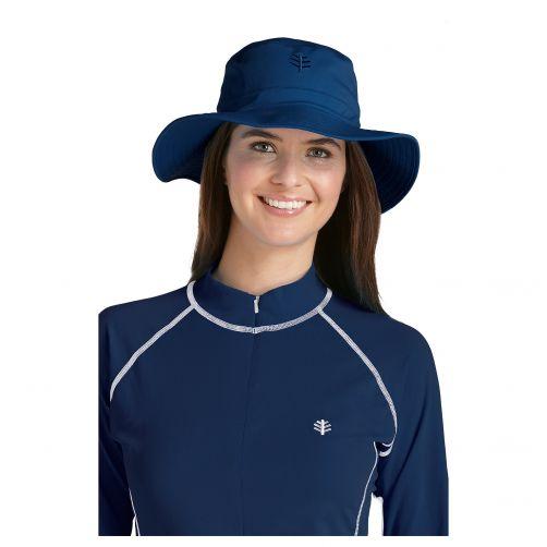 Coolibar---UV-bucket-hat-unisex---Blue
