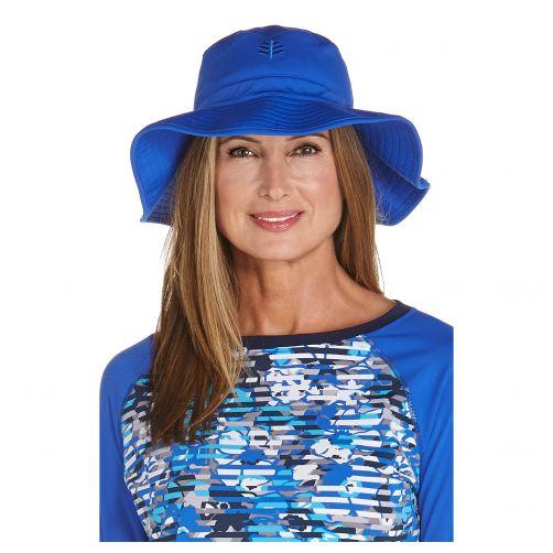 Coolibar---UV-floppy-hat-for-women---Baja-blue