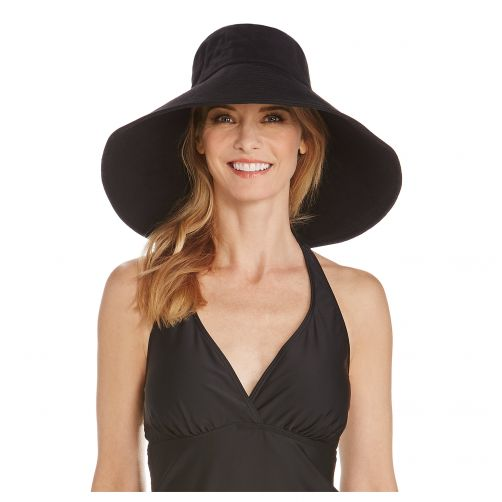 Coolibar---UV-floppy-hat-for-women---Wide-brim---Black