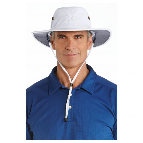 Coolibar---UV-sun-hat-for-men---White-/-carbon-grey