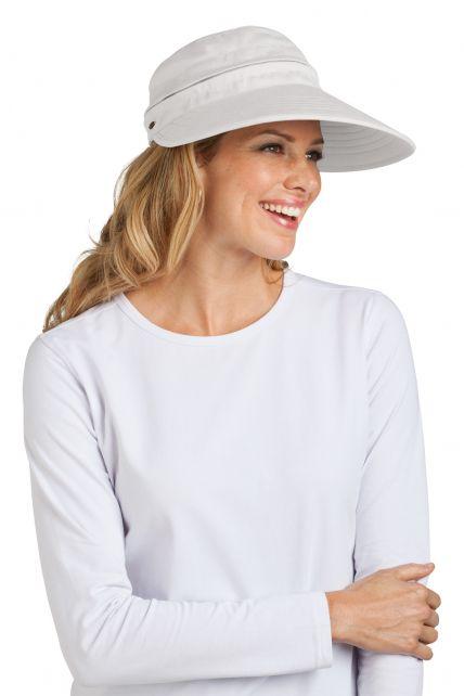 Coolibar---Zip-Off-Sun-UV-visor---White