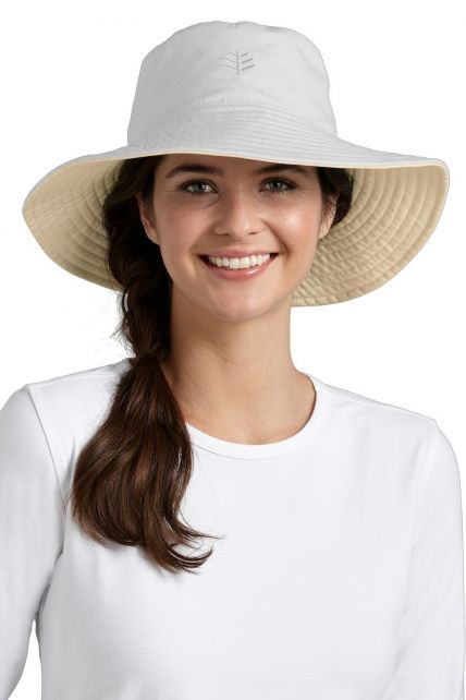 Coolibar---Santa-Cruz-Reversible-UV-hat---White