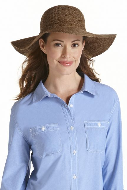 Coolibar---UPF-50+-Women's-Packable-Wide-Brim-Sun-Hat--Brown