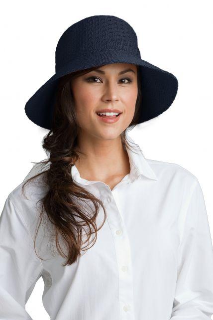 Coolibar - Marina Sun Hat- navy - Front