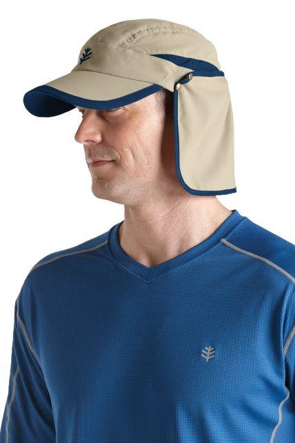 Coolibar---Sun-Breaker-Running-Cap--Beige