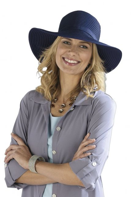 Coolibar---Shapeable-Travel-UV-Sun-Hat---Blue
