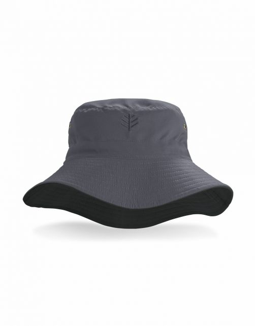 Coolibar---Reversible-UV-Bucket-Hat-for-adults---Landon---Carbon/Black