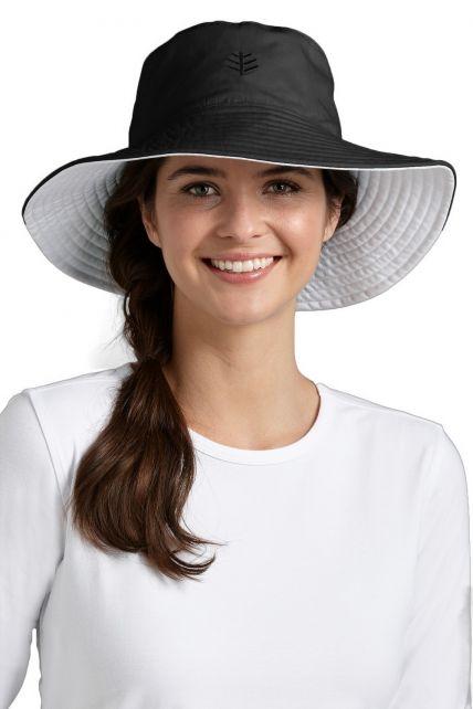 Coolibar---Santa-Cruz-Reversible-UV-hat---Black
