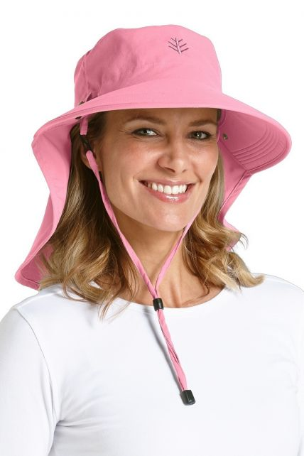 Coolibar---UPF-50+-Female-Ultra-Sun-Hat---Pink