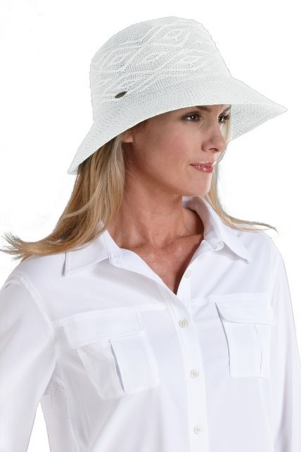Coolibar---Packable-UV-Beach-Bucket-Hat---White