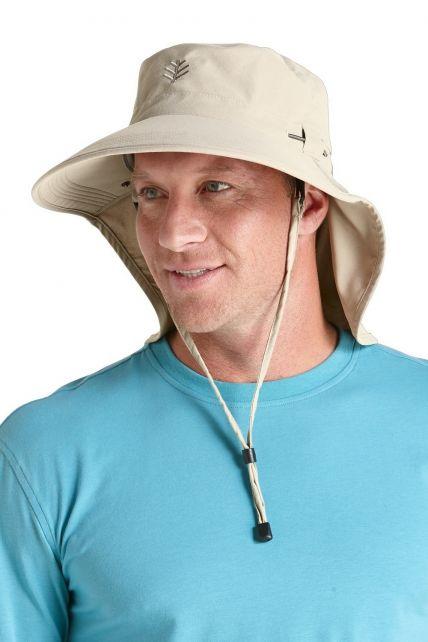 Coolibar---UPF-50+-Men's-Ultra-Sun-Hat---Grey