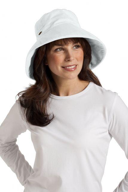 Coolibar---Everyday-Cotton-UV-Hat---White
