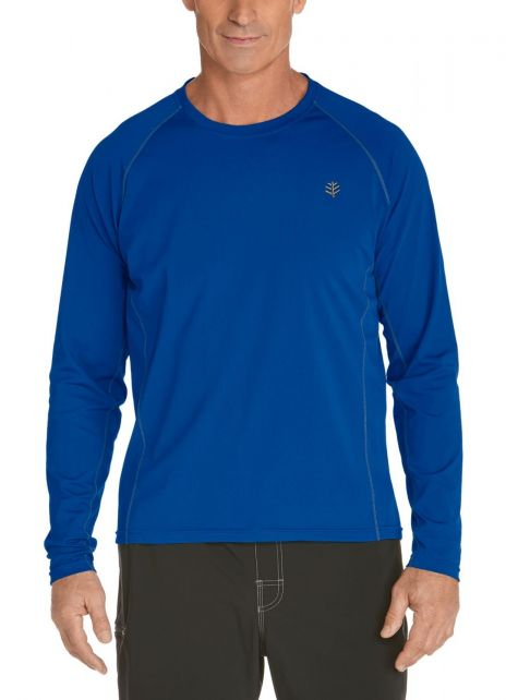 Coolibar---Men's-Long-Sleeve-Swim-Shirts---royal