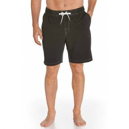 Coolibar---swim-UV-short---black