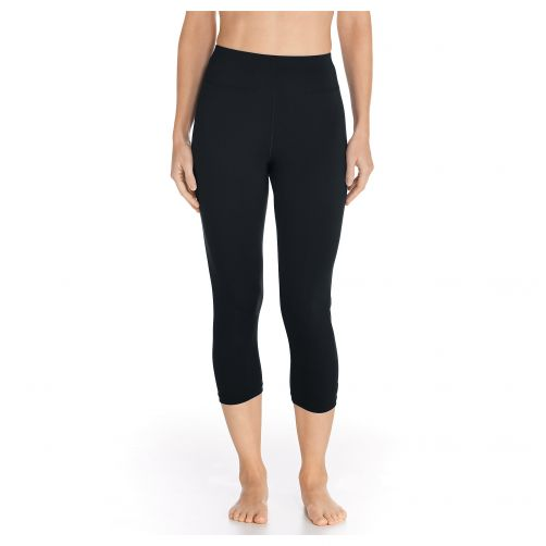 Coolibar---Capri-swim-leggings---Black