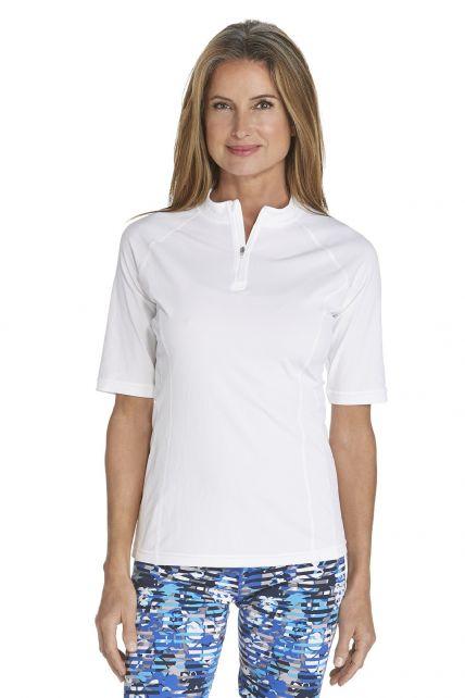 Coolibar---UV-Swim-shirt-short-sleeve-women---White