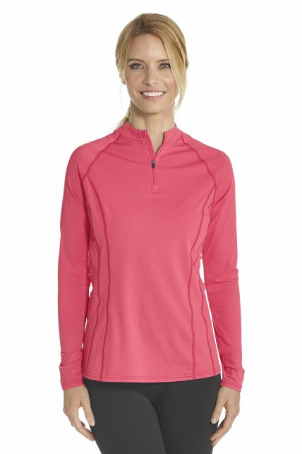 Coolibar---UV-Swim-shirt-long-sleeve-women---Coral
