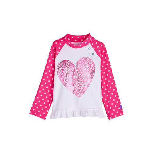 Coolibar - UV swim shirt for babies and toddlers - Floral Heart - Front