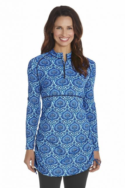 Coolibar---UV-Swim-shirt-women---Blue