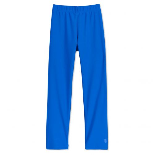 Coolibar - UV swim leggings for children - Baja blue - Front