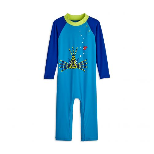 Coolibar - UV swimsuit for babies - Blue Lion Around - Front
