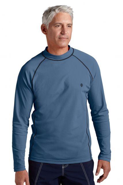 Coolibar---Men's-Long-Sleeve-Swim-Shirts---steel-grey-
