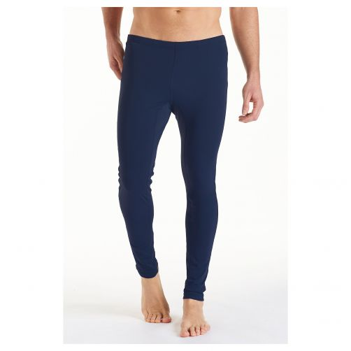 Coolibar - UV deep water swim tights for men - dark blue - Front