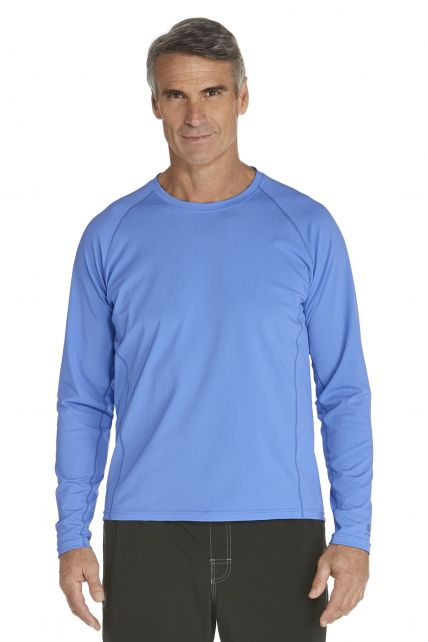 Coolibar---Men's-Long-Sleeve-Swim-Shirts---surf-blue