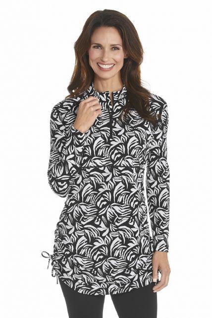 Coolibar---UV-Swim-shirt-women---Black