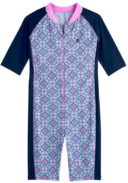 Coolibar - UV swimsuit for girls - Spanish Mosaïque - multi - Front