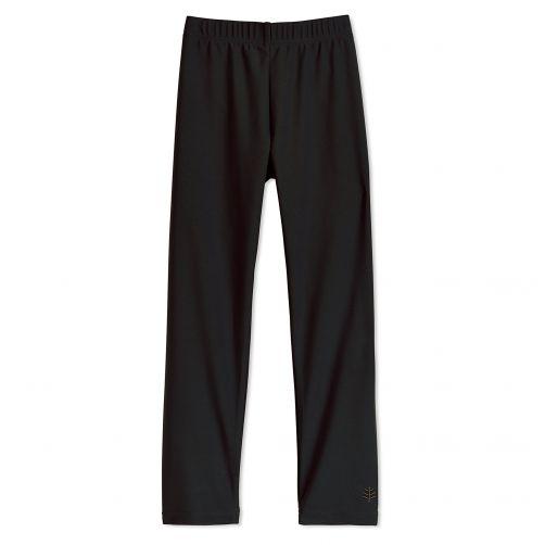 Coolibar - UV swim leggings for children - Black - Front