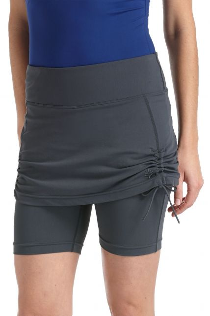 Coolibar---Skirted-UV-Swim-Shorts---Graphite