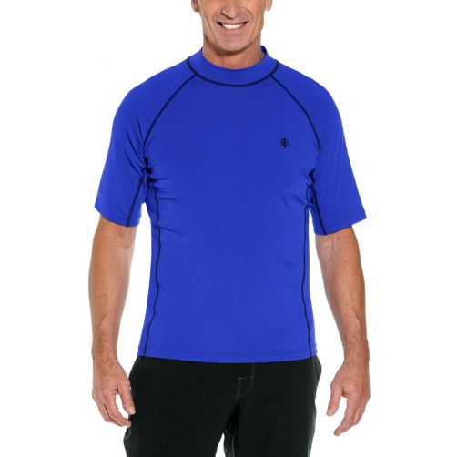 Coolibar---UV-Swim-Shirt-for-men---Tulum-Rash-Guard---Cobalt-Blue