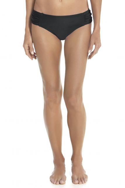 Coolibar---UPF-50+-Women's-Ruche-Swim-Bikini-Bottom-UV-Swimwear--Black