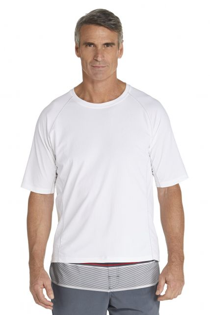 Coolibar---Men's-Short-Sleeve-Swim-Shirt---white
