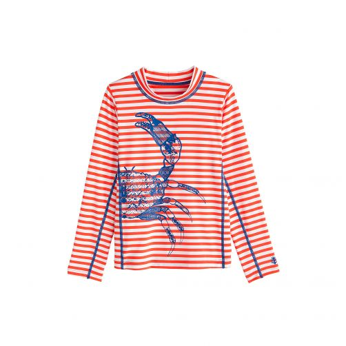 Coolibar - UV swim shirt for children - Blue Crab - Front