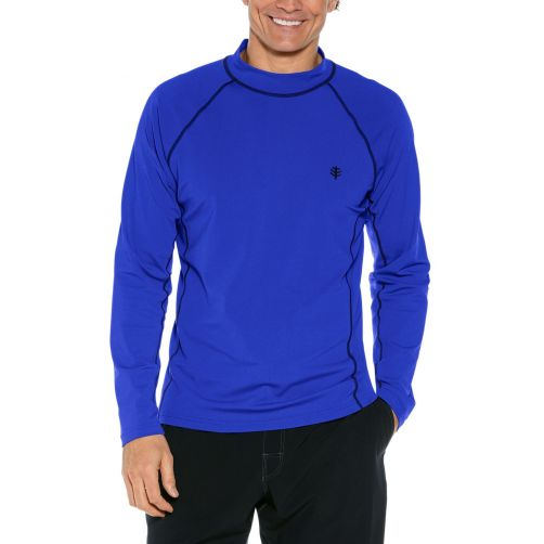 Coolibar---UV-Swim-Shirt-for-men---Longsleeve---Tulum-Rash---Cobalt-Blue