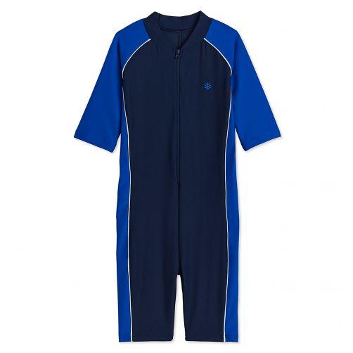 Coolibar - UV swimsuit for children - Blue - Front