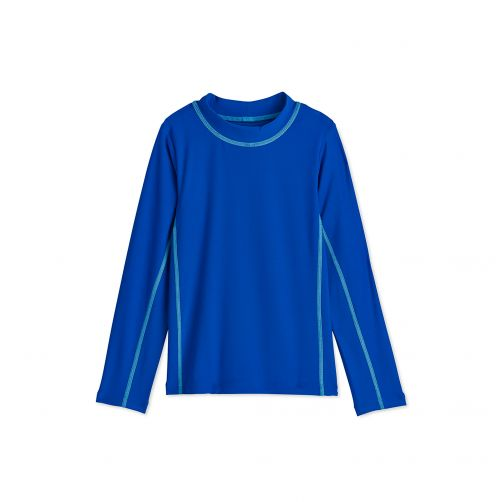 Coolibar - UV swim shirt for children - Blue Wave - Front